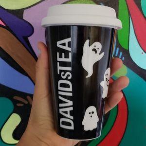 David's Tea Ceramic Halloween Ghosts Tumbler